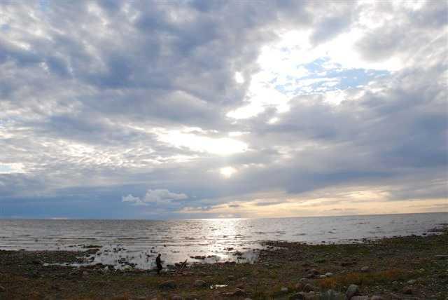 Вид на Ладожское озеро со стороны мыса Сторожно