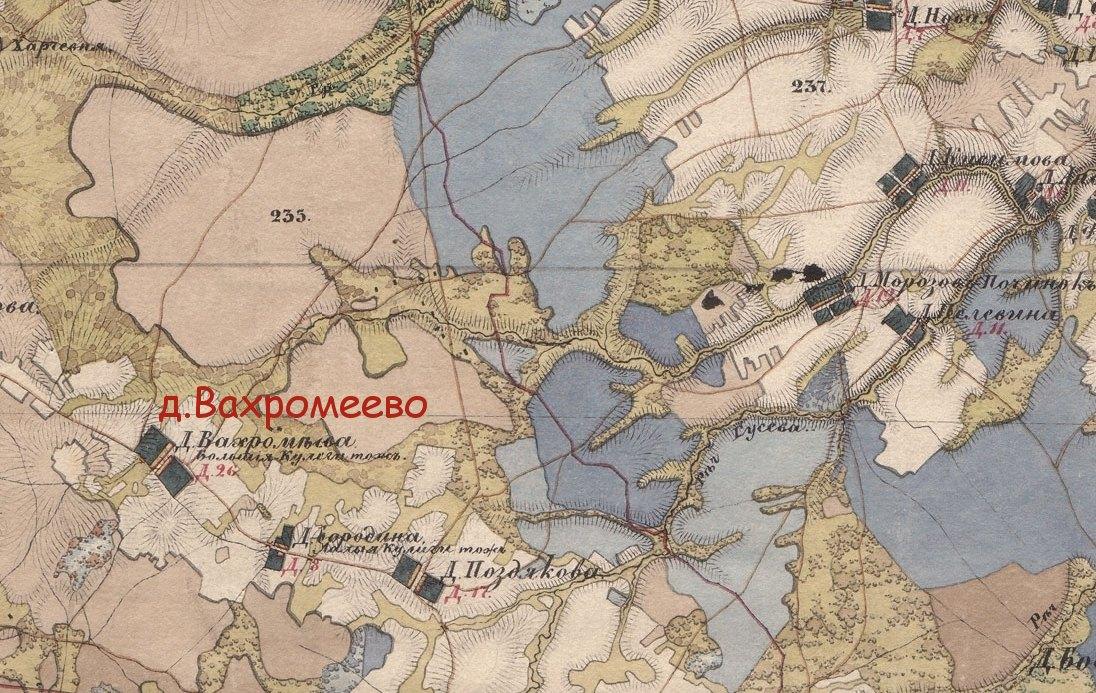 Карта - Окресности д.
